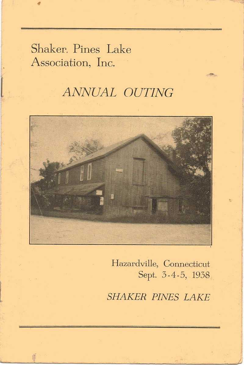 1938 photo of the Old Mill on the front of the Annual Outing pamphlet.